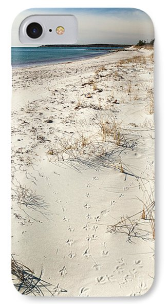 IPhone Case featuring the photograph Tracks On The Beach by Michelle Wiarda