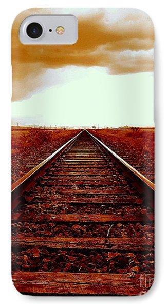 Marfa Texas America Southwest Tracks To California IPhone Case by Michael Hoard