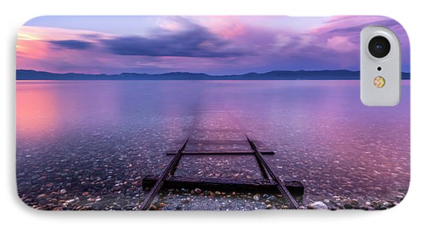 Tracks To Tahoe IPhone Case by Brad Scott