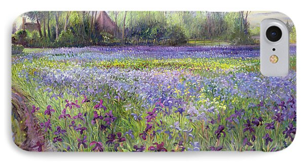 Trackway Past The Iris Field IPhone 7 Case by Timothy Easton