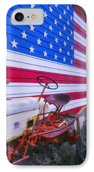 Tractor And Large Flag IPhone Case