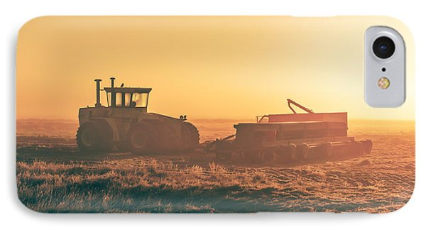 Tractor Morning Glow IPhone Case by Todd Klassy