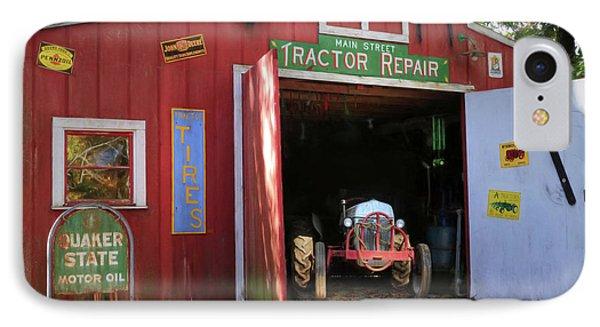 Tractor Repair Shop IPhone Case by Lori Deiter