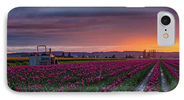 IPhone Case featuring the photograph Tractor Waits For Morning by Mike Reid