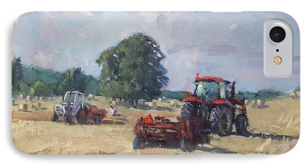 Tractors In The Farm Georgetown IPhone Case by Ylli Haruni
