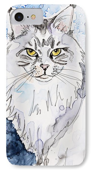 Trader The Maine Coon IPhone Case by Shaina Stinard