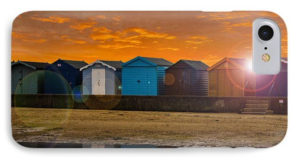 Traditional English Beach Huts IPhone Case by Martin Newman