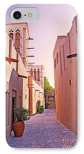 Traditional Middle Eastern Street In Dubai Phone Case by Chris Smith