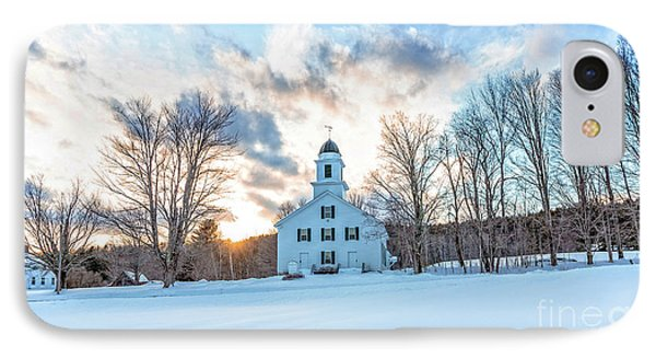 IPhone Case featuring the photograph Traditional New England White Church Etna New Hampshire by Edward Fielding