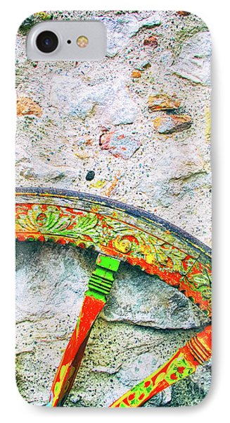 IPhone Case featuring the photograph Traditional Sicilian Cart Wheel Detail by Silvia Ganora