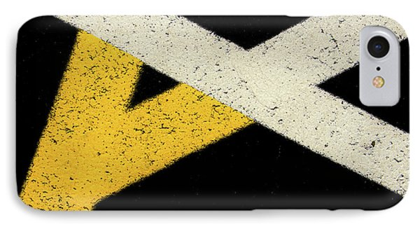 IPhone Case featuring the photograph Traffic Line Conversion 2 by Gary Slawsky