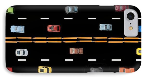 IPhone Case featuring the photograph Traffic - Panorama by Nikolyn McDonald