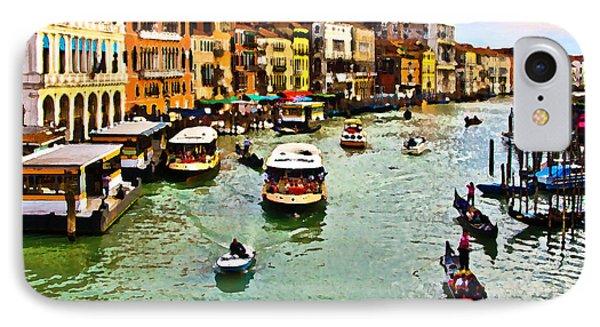 IPhone Case featuring the photograph Traghetto, Vaporetto, Gondola  by Tom Cameron