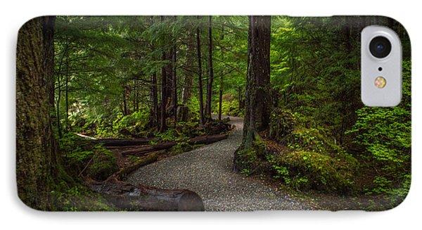 Trail Around Ward Lake Ketchikan Alaska IPhone Case by Michael J Bauer
