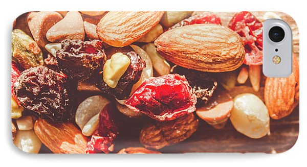 Trail Mix High-energy Snack Food Background IPhone Case by Jorgo Photography - Wall Art Gallery