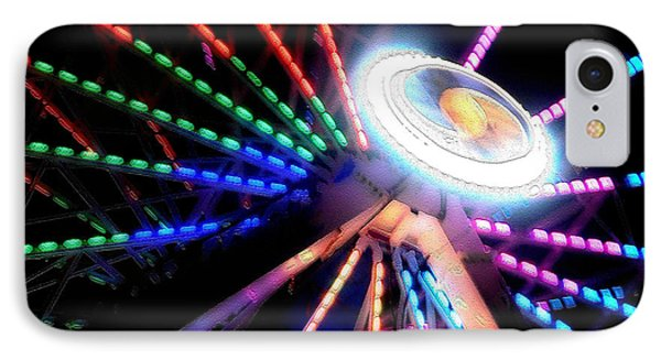 Trail Of Lights Abstract #7486 IPhone Case by Barbara Tristan
