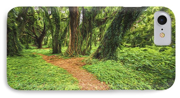 Trail Of Trees IIi IPhone Case by Jon Glaser