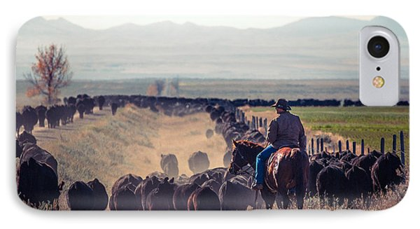 Trailing The Herd IPhone Case by Todd Klassy
