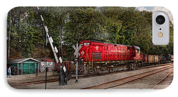 Train - Diesel - Look Out For The Locomotive  Phone Case by Mike Savad