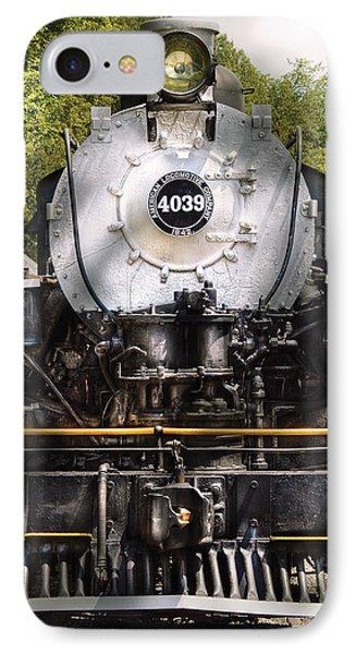 Train - Engine - 4039 American Locomotive Company  IPhone Case by Mike Savad
