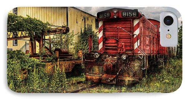 Train - Engine - 8159 Parked IPhone Case by Mike Savad