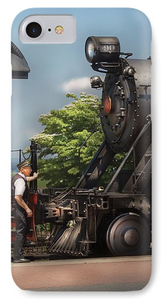 Train - Engine - Alllll Aboard Phone Case by Mike Savad