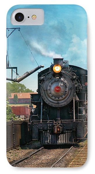 Train - Engine - Strasburg Number 9 Phone Case by Mike Savad