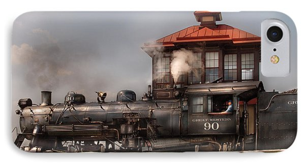 Train - Engine -the Great Western 90 Phone Case by Mike Savad