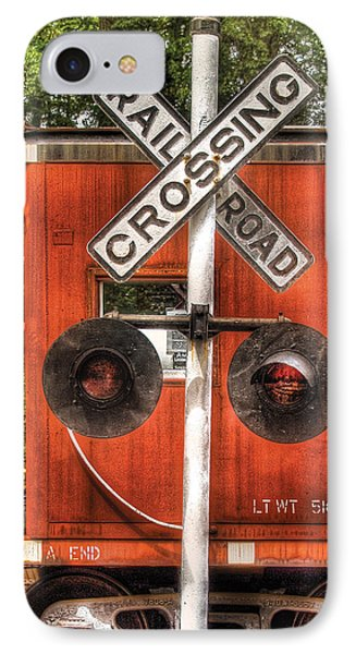 Train - Yard - Railroad Crossing Phone Case by Mike Savad