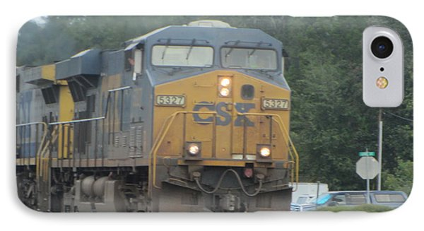 Train At Folkston 2 IPhone Case by Cathy Lindsey