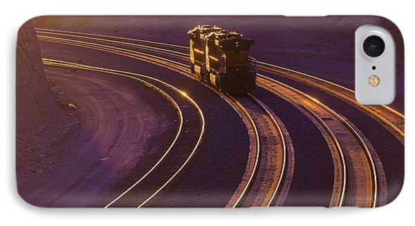 Train iPhone 7 Case - Train At Sunset by Garry Gay