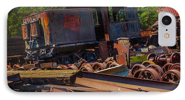 Train Bone Yard IPhone Case by Garry Gay