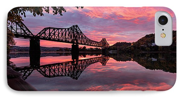 Train Bridge At Sunrise  IPhone 7 Case