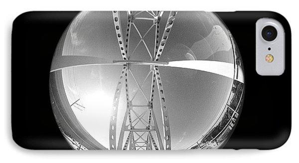 Train Bridge IPhone Case by DiGUM Photography