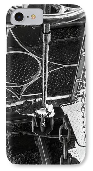 IPhone Case featuring the photograph Train Car Connections by Colleen Coccia