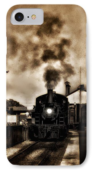 Train Coming In The Station Phone Case by Bill Cannon