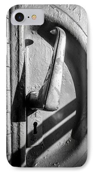 Train Door Handle IPhone Case by John Williams