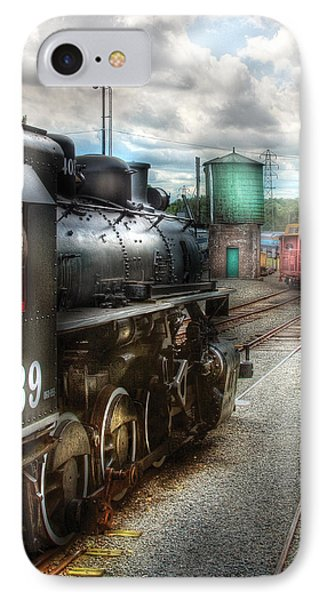Train - Engine - 4039 - In The Train Yard  Phone Case by Mike Savad