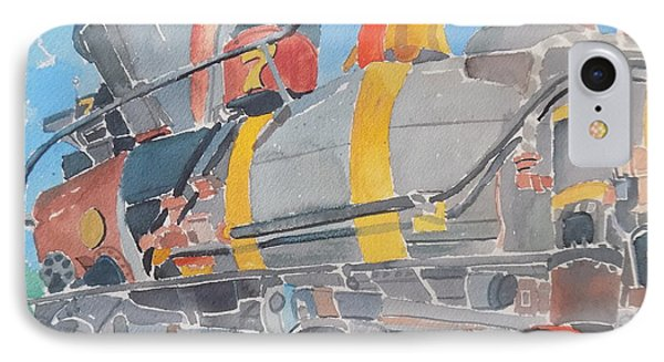 Train Engine IPhone Case by Rodger Ellingson