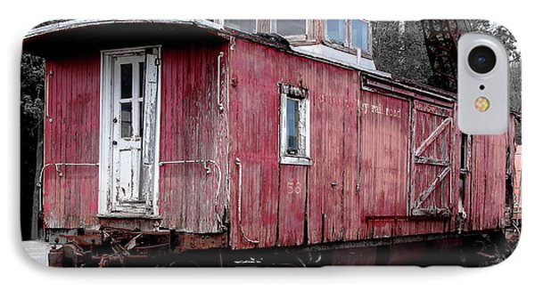 Train In Barn Red  IPhone Case by Steven Digman