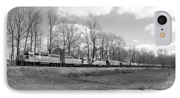 Train In Black And White 20 IPhone Case