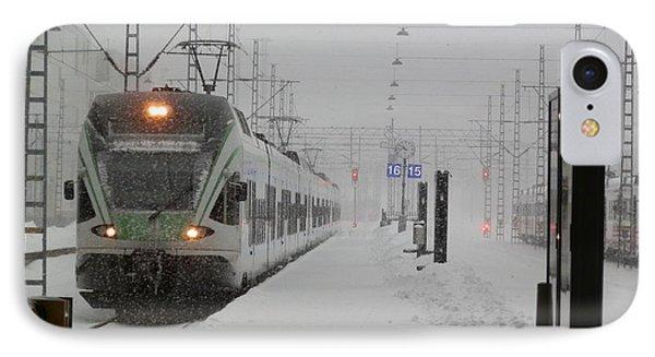 Train In Helsinki IPhone Case by Margaret Brooks