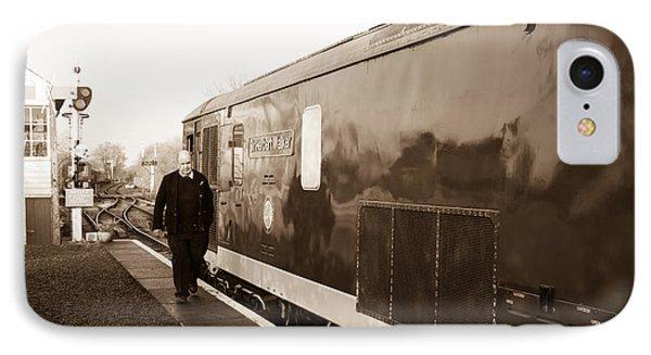 Train Leaving  IPhone Case by Steven Sexton