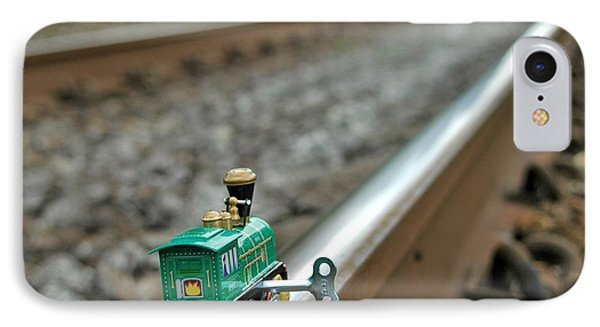 Train On Tracks Phone Case by Bill Kellett