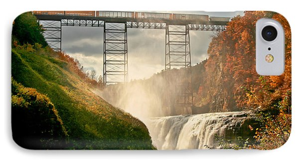 Train Over Letchworth Phone Case by Ken Marsh