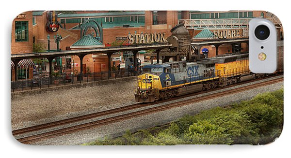 Train - Pittsburg, Pa - Station Square IPhone Case by Mike Savad
