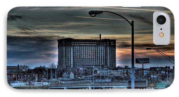 Train Station Detroit Mi IPhone Case by Nicholas  Grunas