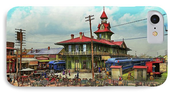 Train Station - Louisville And Nashville Railroad 1905 IPhone Case by Mike Savad