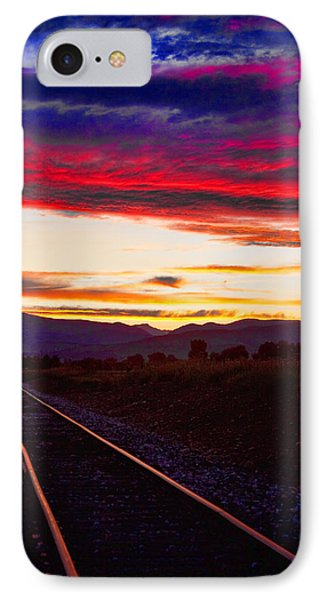 Train Track Sunset Phone Case by James BO  Insogna