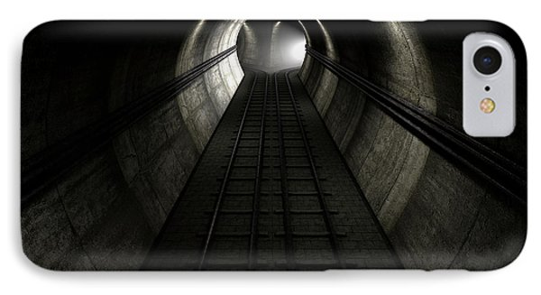 Train Tracks And Approaching Train IPhone Case